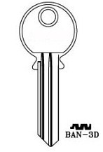 Hook 3273: BAN-3D - Keys/Cylinder Keys- General