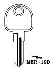 Hook 3306: MER-19D E = MR29R - Keys/Cylinder Keys- General