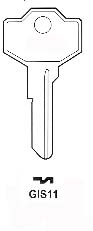 Giussani GIS11 Hook 1702 - Keys/Cylinder Keys- General